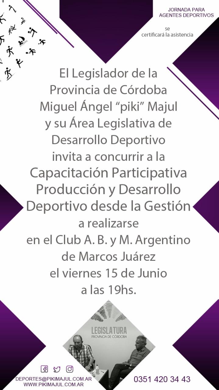 Marcos Juárez: Se suspendió la Jornada de capacitación para Agentes ...